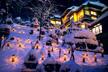 向瀧の冬景色 雪見ろうそく