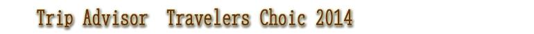 TripAdvisor:TRAVELER'S CHOICE 2014