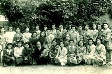 1947・09月昭和22年同級会の記念写真