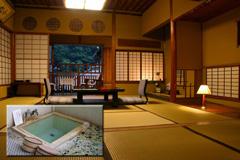 会津東山温泉 向瀧 温泉付き客室松の間