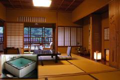 会津東山温泉 向瀧 温泉付き客室竹の間