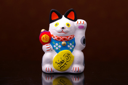 向瀧招福開運招き猫