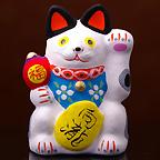 東山温泉 向瀧 招福開運招き猫(白)