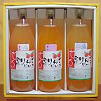 東山温泉 向瀧 りんごジュース1000ml3本詰め