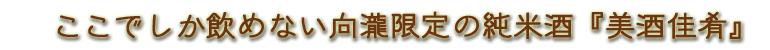 会津東山温泉向瀧 限定純米酒 美酒佳肴